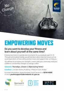 Empowering Moves - Brimbank Youth Services
